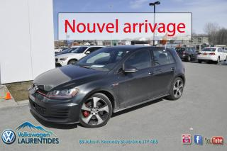 Used 2016 Volkswagen Golf GTI PERFORMANCE*GPS*CUIR*0.9% for sale in Saint-jerome, QC