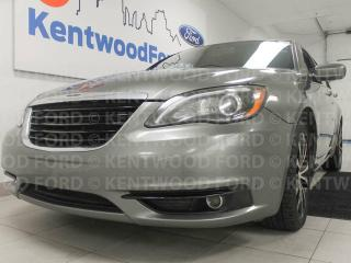 Used 2013 Chrysler 200 200 S with power leather heated seats and a sunroof for sale in Edmonton, AB