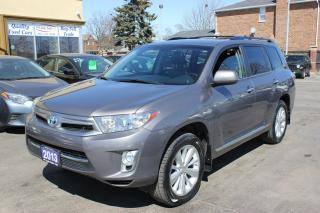 Used 2013 Toyota Highlander Hybrid Leather Sunroof Backup Cam for sale in Brampton, ON