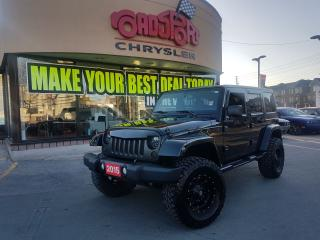 Used 2015 Jeep Wrangler Sahara UNLIMITED LIFTED FUEL WHEELS NAVI ALPINE for sale in Scarborough, ON