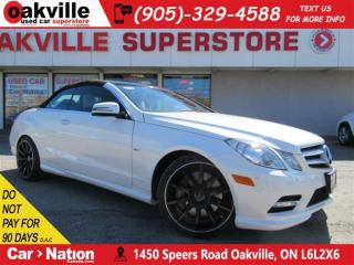 Used 2012 Mercedes-Benz E-Class E550 | CABRIO | DESIGNO LEATHER | NAV for sale in Oakville, ON