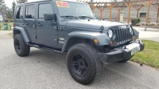 Used 2008 Jeep Wrangler Unlimited Sahara 4WD for sale in West Kelowna, BC