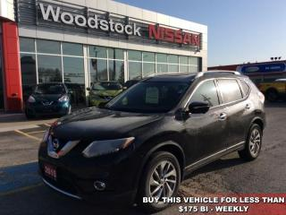 Used 2015 Nissan Rogue SL  - Sunroof -  Leather Seats - $159.59 B/W for sale in Woodstock, ON