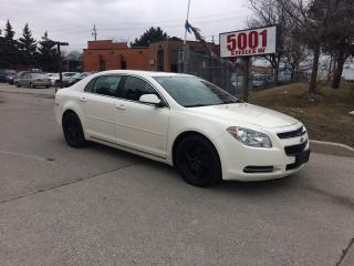 Used 2011 Chevrolet Malibu LEATHER S/R,+4ALLOYS,SAFETY+3YEARS WARRANTY INCLUD for sale in North York, ON