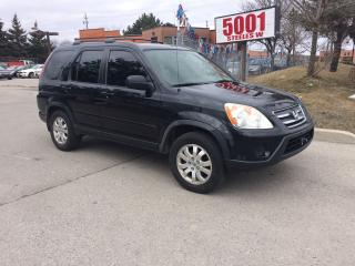 Used 2005 Honda CR-V AWD,LEATHER,S/R,MAGS,SAFETY+3YEARS WARRANTY INCLUD for sale in North York, ON