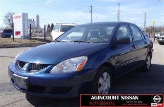 Used 2004 Mitsubishi Lancer ES |AS-IS SUPERSAVER| for sale in Scarborough, ON