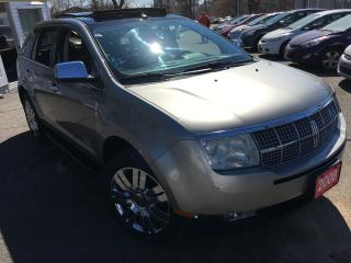 Used 2008 Lincoln MKX AUTO/NAVI/PANO SUNROOF/LEATHER/ALLOYS/AWD/LOADED!! for sale in Scarborough, ON