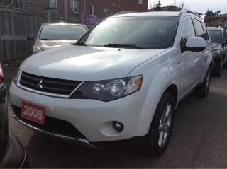 Used 2008 Mitsubishi Outlander 7 Seats/Nav/DVD/Bluetooth/Leather/4WD for sale in Scarborough, ON