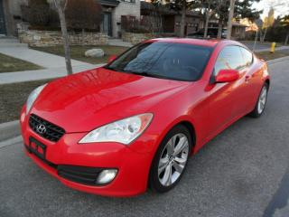 Used 2010 Hyundai Genesis Coupe LEATHER, ROOF, PREMIUM, NO ACCIDENTS, CERTIFIED for sale in Etobicoke, ON