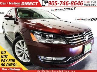 Used 2013 Volkswagen Passat 3.6L Highline| LEATHER| SUNROOF| NAVI| for sale in Burlington, ON