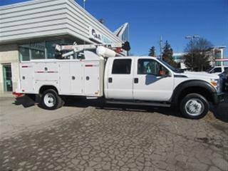 Used 2015 Ford F-550 Crew cab 4x4 gas 11 ft service box + Crane for sale in Richmond Hill, ON