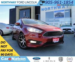 Used 2015 Ford Focus SE | REAR CAMERA | HEATED SEATS | LOW KM | for sale in Brantford, ON