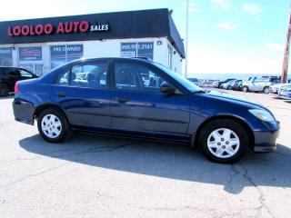 Used 2005 Honda Civic DX Special Edition Sedan 5 Spd Manual for sale in Milton, ON