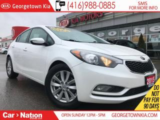 Used 2015 Kia Forte LX HTD SEATS| ALLOY WHEELS| BLUE TOOTH| ECO ACTIVE for sale in Georgetown, ON