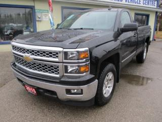 Used 2015 Chevrolet Silverado 1500 WORK READY LT MODEL 3 PASSENGER 5.3L - V8.. 4X4.. REGULAR CAB.. 8-FOOT BOX.. FACTORY WARRANTY.. CD/AUX/USB INPUT.. BLUETOOTH.. for sale in Bradford, ON