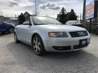 Used 2005 Audi S4 CONVERTIBLE for sale in Surrey, BC