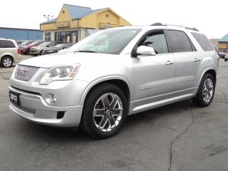 Used 2012 GMC Acadia Denali AWD 7 Pass 3.6L for sale in Brantford, ON