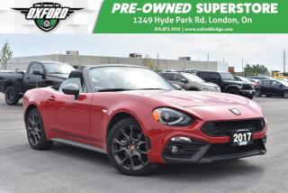 Used 2017 Fiat 124 Spider Abarth - One Owner, GPS, Bluetooth for sale in London, ON