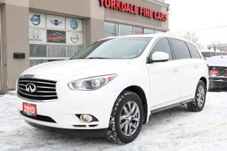Used 2013 Infiniti JX35 7 Pass. Navi. Rear Camera. Leather. Clean for sale in North York, ON
