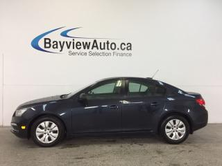 Used 2016 Chevrolet Cruze - 1.8L|AUTO|ON STAR|PWR GROUP|KEYLESS ENTRY! for sale in Belleville, ON