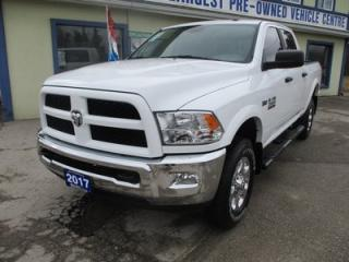 Used 2017 Dodge Ram 2500 3/4 TON WORK READY OUTDOORSMAN MODEL 6 PASSENGER 5.7L - HEMI.. 4X4.. CREW.. SHORTY.. FACTORY WARRANTY.. BACK-UP CAMERA.. BLUETOOTH SYSTEM.. for sale in Bradford, ON
