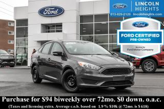 Used 2016 Ford Focus SE SEDAN for sale in Ottawa, ON