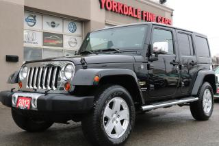 Used 2012 Jeep Wrangler Unlimited Sahara Leather. Navi. 2 Tops. Original for sale in North York, ON