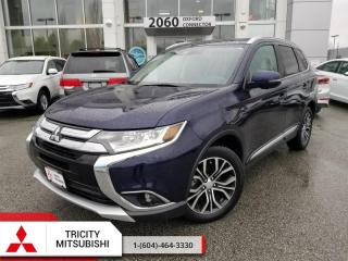 Used 2017 Mitsubishi Outlander GT  - WITH LEATHER, SUNROOF, 7 SEATS V6 for sale in Port Coquitlam, BC