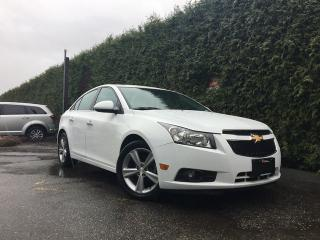Used 2014 Chevrolet Cruze LTZ + LEATHER HEATED FT SEATS + SUNROOF + BACK-UP CAMERA + NO EXTRA DEALER FEES for sale in Surrey, BC