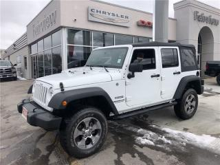 Used 2016 Jeep Wrangler Unlimited Auto/Keyless/Alloys for sale in Burlington, ON