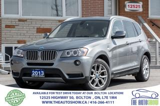 Used 2013 BMW X3 28i Navigation + Pano Roof + Camera for sale in Caledon, ON