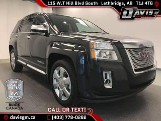 Used 2013 GMC Terrain Denali AWD, HEATED LEATHER, NAVIGATION for sale in Lethbridge, AB