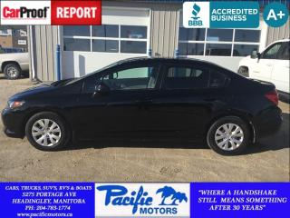 Used 2012 Honda Civic Lx*Command Start*Eco Friendly*Aux/Usb*Low Km for sale in Headingley, MB