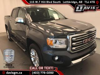 Used 2016 GMC Canyon SLT HEATED LEATHER, ANDROID/APPLE CARPLAY, REAR CAMERA for sale in Lethbridge, AB