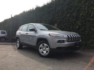 Used 2014 Jeep Cherokee SPORT + UCONNECT 5.0 + BLUETOOTH + NO EXTRA DEALER FEES for sale in Surrey, BC
