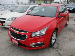 Used 2016 Chevrolet Cruze LOADED 2-LT MODEL 5 PASSENGER 1.4L - TURBO.. LEATHER.. HEATED SEATS.. BACK-UP CAMERA.. BLUETOOTH.. FACTORY WARRANTY.. for sale in Bradford, ON