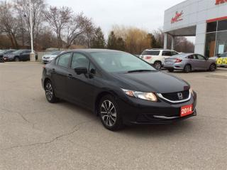 Used 2014 Honda Civic Sedan EX...ONE OWNER...CLEAN CARPROOF for sale in Milton, ON