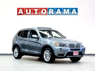 Used 2013 BMW X3 NAVIGATION LEATHER SUNROOF 4WD BACKUP CAMERA for sale in North York, ON