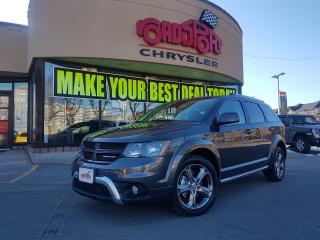 Used 2017 Dodge Journey Crossroad NAVI P-ROOF DVD 7 PASS H-TED WHEEL AWD for sale in Scarborough, ON