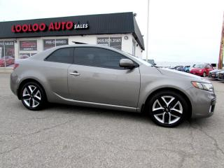 Used 2011 Kia Forte Koup SX COUPE MANUAL BLUETOOTH CERTIFIED 2YR WARRANTY for sale in Milton, ON