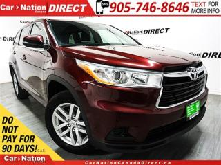 Used 2015 Toyota Highlander LE| AWD| BACK UP CAMERA| TOUCH SCREEN| for sale in Burlington, ON