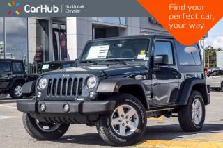 New 2018 Jeep Wrangler JK NEW CAR Sport 4x4|Lighting,PowerConvi,ConnectivityPkgs|17