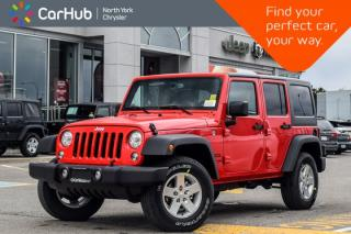 New 2018 Jeep Wrangler JK Unlimited NEW CAR Sport 4x4|PowerConvi,LED,ConnectivityPkgs|AC| for sale in Thornhill, ON