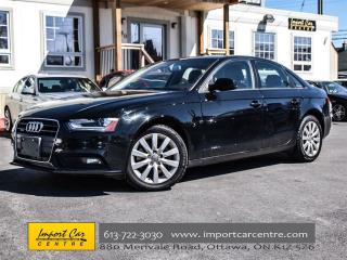 Used 2013 Audi A4 2.0T QUATTRO LEATHER SUNROOF for sale in Ottawa, ON