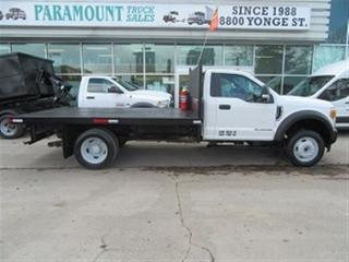Used 2017 Ford F-550 Reg Cab 4x4 diesel with / without 12 ft flat deck for sale in Richmond Hill, ON