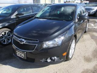 Used 2014 Chevrolet Cruze LOADED RS - LTZ EDITION 5 PASSENGER 1.4L - TURBO.. LEATHER.. HEATED SEATS.. NAVIGATION.. BACK-UP CAMERA.. POWER SUNROOF.. for sale in Bradford, ON