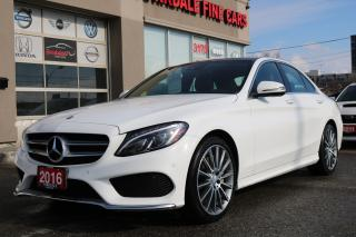 Used 2016 Mercedes-Benz C-Class C300 4Matic. AMG NAVI, PANO, WHITE ON RED for sale in North York, ON