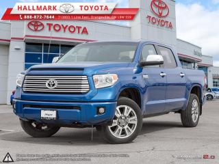 Used 2016 Toyota Tundra 4x4 CrewMax Platinum 5.7 6A FULLY LOADED, NAVI,BLUE TOOTH AND MORE for sale in Mono, ON
