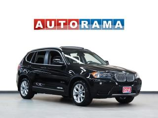Used 2014 BMW X3 NAVIGATION PAN SUNROOF LEATHER 4WD BACKUP CAM for sale in North York, ON