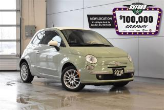 Used 2016 Fiat 500 Lounge - Retro Edition, GPS, Bluetooth, Heated Sea for sale in London, ON